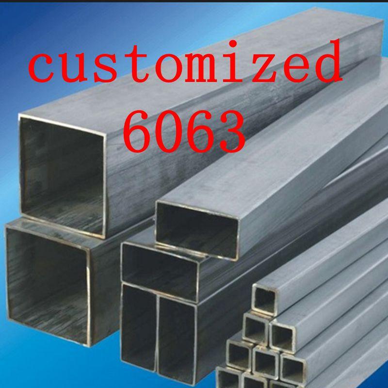 6063-T52 Customized Aluminum Rectanggular Tube,Al Square Pipe