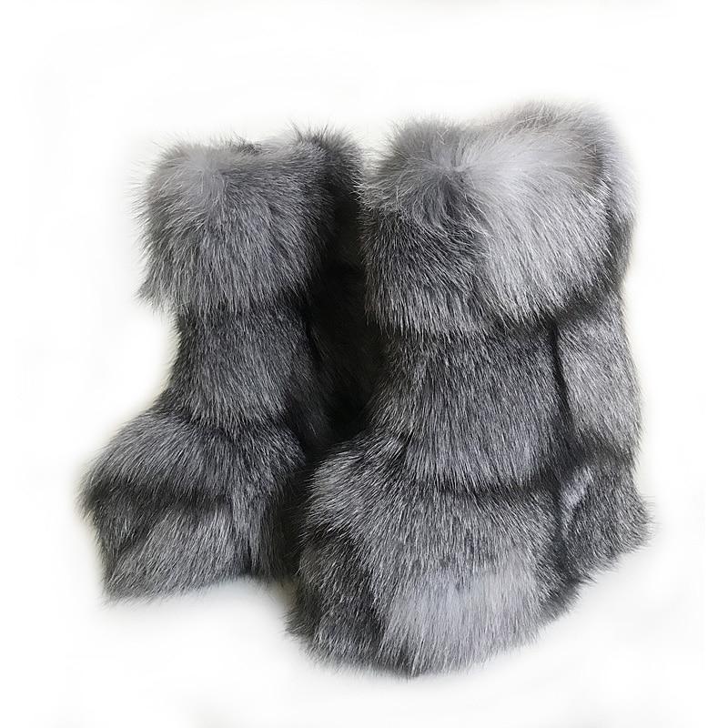 Micholediys 2018 New Arrival Handmade Winter Fox Fur Blue Snow Boots Eskimo Botas Antiskid Warm Increased Thick Soles Shoes micholediys winter new arrival handmade