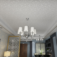Ceiling wallpaper relief thick three dimensional 3d wallpaper European non woven geometric living room roof wall murals