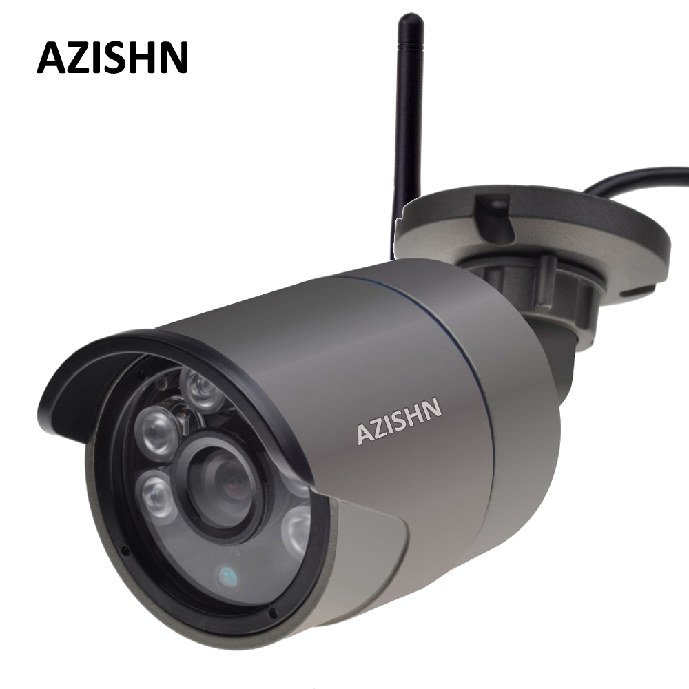 AZISHN Wifi IP Camera 720P/960P/1080P Wired wireless Yoosee Security Wifi Metal Outdoor CCTV Camera Support SD Card Up To 128GB azishn yoosee wifi onvif ip camera 1080p 960p 720p wireless wired p2p alarm cctv outdoor camera with sd card slot max 128g
