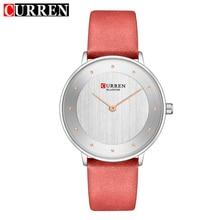 CURREN Fashion Ultra-Thin Quartz Watch Women Casual Genuine