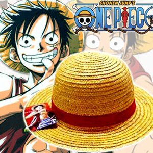 Japansk Anime Monkey D Luffy stråhatt barn barn anime action figur cosplay party hat halloween kostyme tilbehør