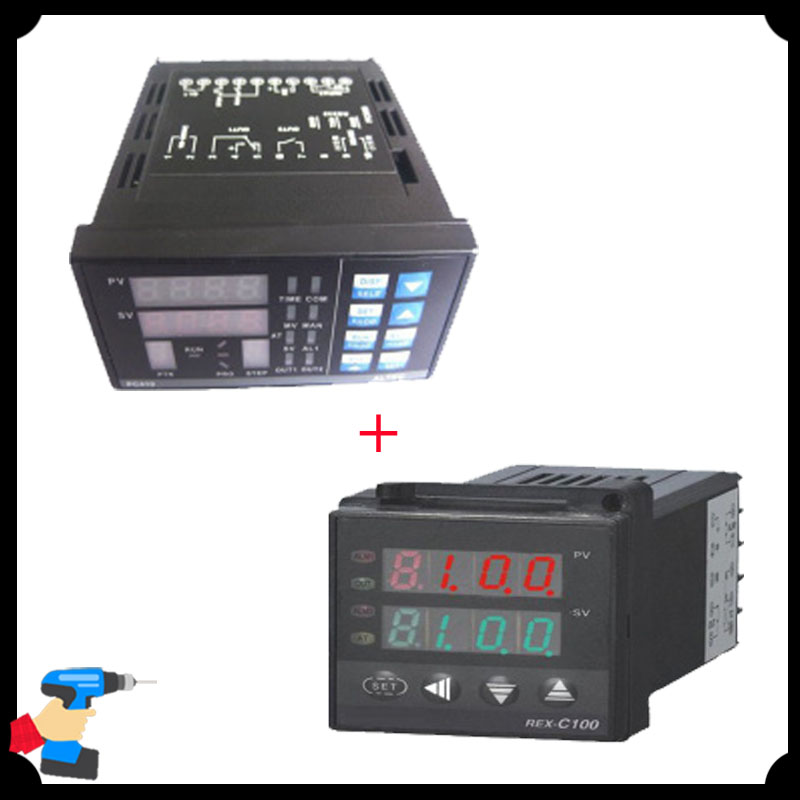 1 Set PC410 with RS232 Communication Module & REX-C100 Tempereature Controller for IR6000 BGA Rework Station pc410 temperature controller panel thermostat rex c100
