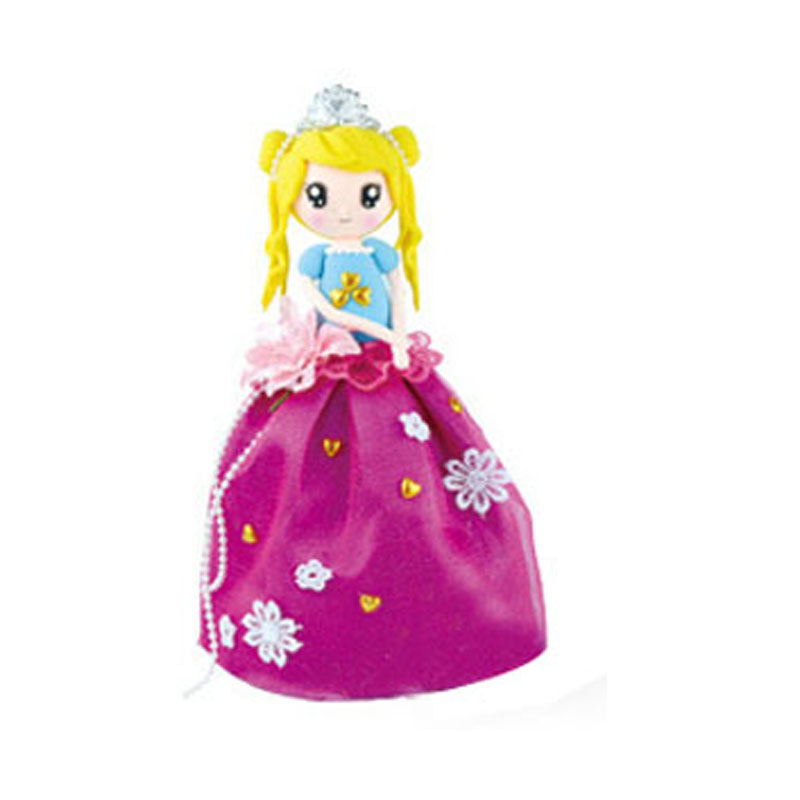 ФОТО 1 Piece DIY Playdough Princess With Purple Dress Super Light Clay Material Package Toys For Children Colored Clay Birthday Gifts