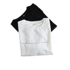Image 4 - קיץ Mens מודפס פשתן חולצות אופנה שרוולים אותיות לנשימה פשתן חולצה מצויד קצר שרוול עגול צווארון רופף בסוודרים