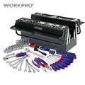 WORKPRO 183 шт. набор инструментов для дома металлический ящик для инструментов набор ремонтных инструментов Набор отверток Набор розеток