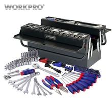 WORKPRO 183PC Tool Set Home Tools Metal Tool Box Set Repair Tool Kits Screwdriver Set Socket Set