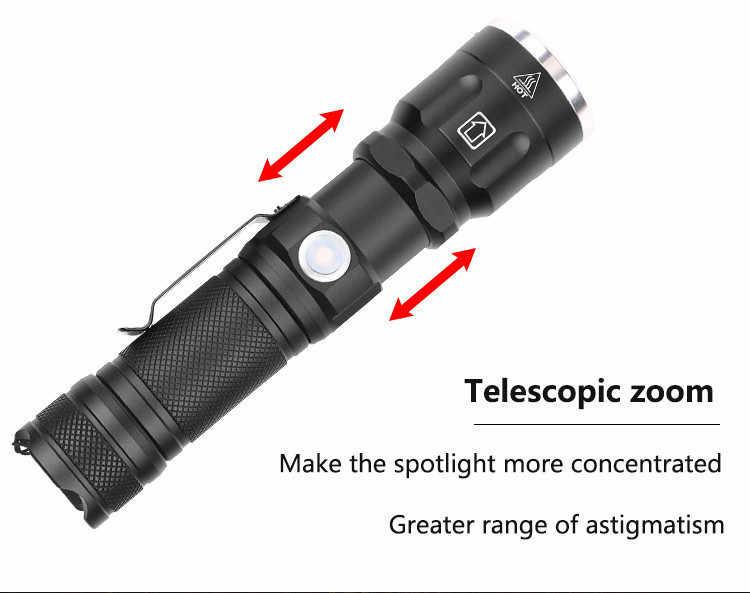 Yunmai مضيا XH P50 LED 3 طرق USB قابلة للشحن 18650 مضيا زوومابلي الشعلة فانوس ل يلة الصيد مصباح طوارئ