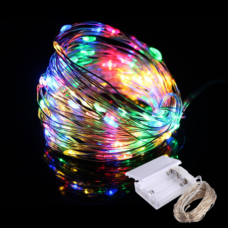 Led Strings light 3M 5M 10M 12M Copper Wire Christmas Wedding Party Decoration Garden Outdoor Waterproof LED String Fairy Lights