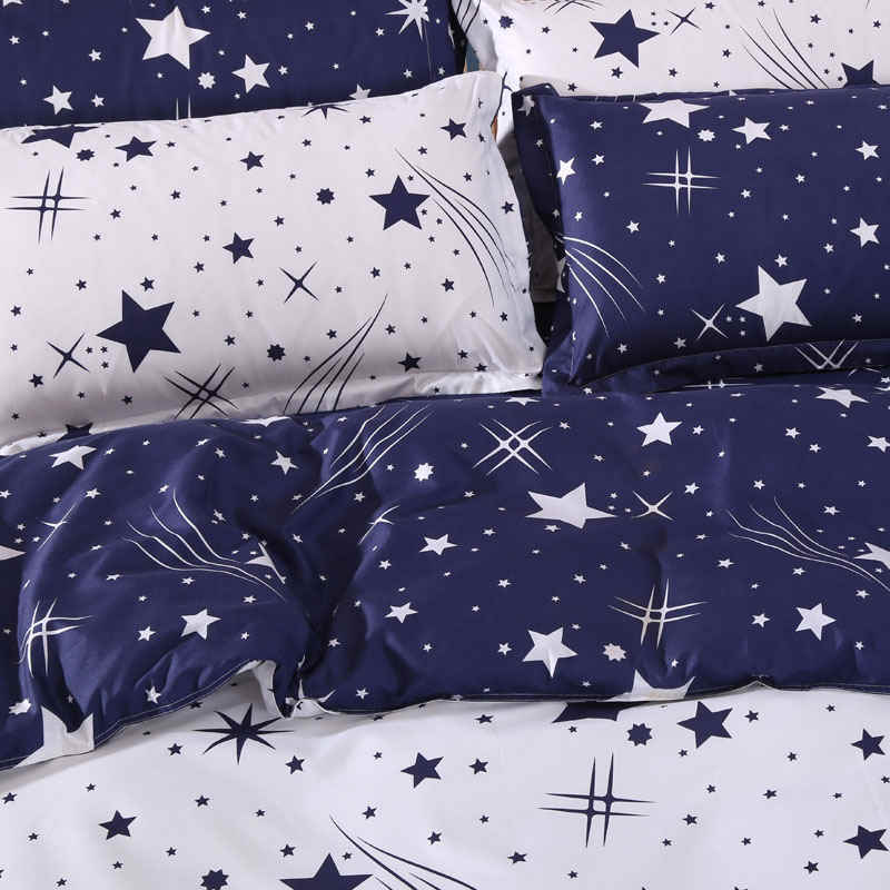 3D Bedding Sets Star Galxy Duvet Cover Blue White Grey Bed sheets Single Twin Full Queen Size Kid or Boys geometric linens24