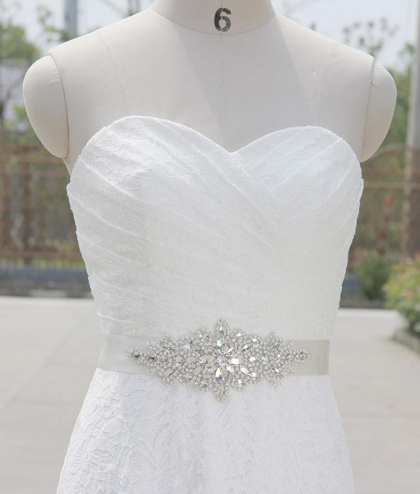 SAINT FORT NIA Wedding Dress Crystal Belt (12)