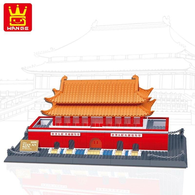5218 Wange Architecture The Beijing Tiananmen Model Building Blocks Enlighten Figure Toys For Children Compatible Legoe5218 Wange Architecture The Beijing Tiananmen Model Building Blocks Enlighten Figure Toys For Children Compatible Legoe