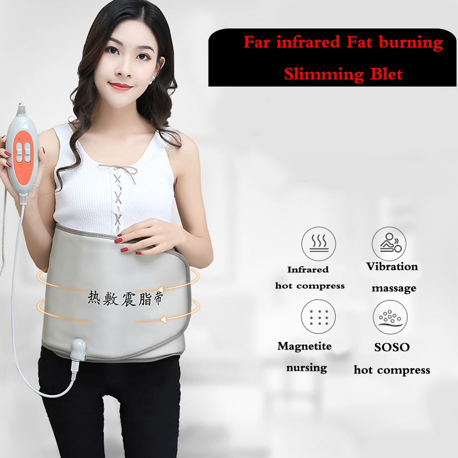 Far infrared Fat burning weight loss belt Slimming Burn Fat Sauna fat shaping burning abdomen reduce belly Beauty parlor instre halloween girl skeleton rib bone top dark green zebra pettiskirt set 1 8year mg1246