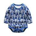 Primavera mameluco infantil pijama de algodón impreso de manga larga ropa de bebé