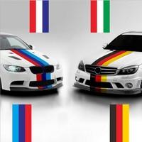 Автомобиль-Стайлинг вообще личность три Цвет бар автомобилей всего/полный Средства ухода за кожей Стикеры и наклейка для Audi A1 A3 a4 A4L A5 A6L 2 м