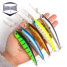 Купить с кэшбэком HAODIAOZHE 14.5g 14.6cm Fishing Lure Iscas Artificiais Para Pesca With #4 Hooks Crankbait Wobblers Swimbait Fishing Tackle YU289