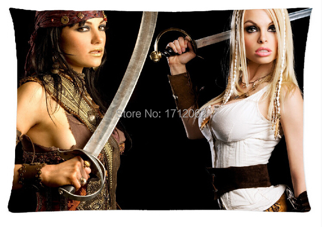 Custom Pirates Movies Jesse Jane Janine Lindemulder Amazing Zippered Pillow Cases 20x30 Inch Two Side