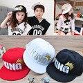 Мода Дети детские Мальчики Девочки Baby King Письмо Корона Спорт Хип-Хоп Бейсболки Регулируемые Шляпы