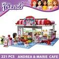 Bloques de construcción de amigos cafe juguetes para niñas juguetes educativos de aprendizaje juguete del edificio modelo compatible con ladrillos lego