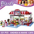 Building Blocks Friends Cafe Toys for Girls Learning Education Toys Model Building Toy Compatible with lego Bricks