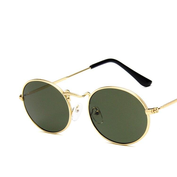 Mais novo Pequeno Oval Metal Frame Rodada Steampunk Óculos De Sol Dos Homens  Das Mulheres Da Forma Do Vintage Óculos de Sol Feminino Óculos Zonnebril  Mannen ... 10d06d8c54