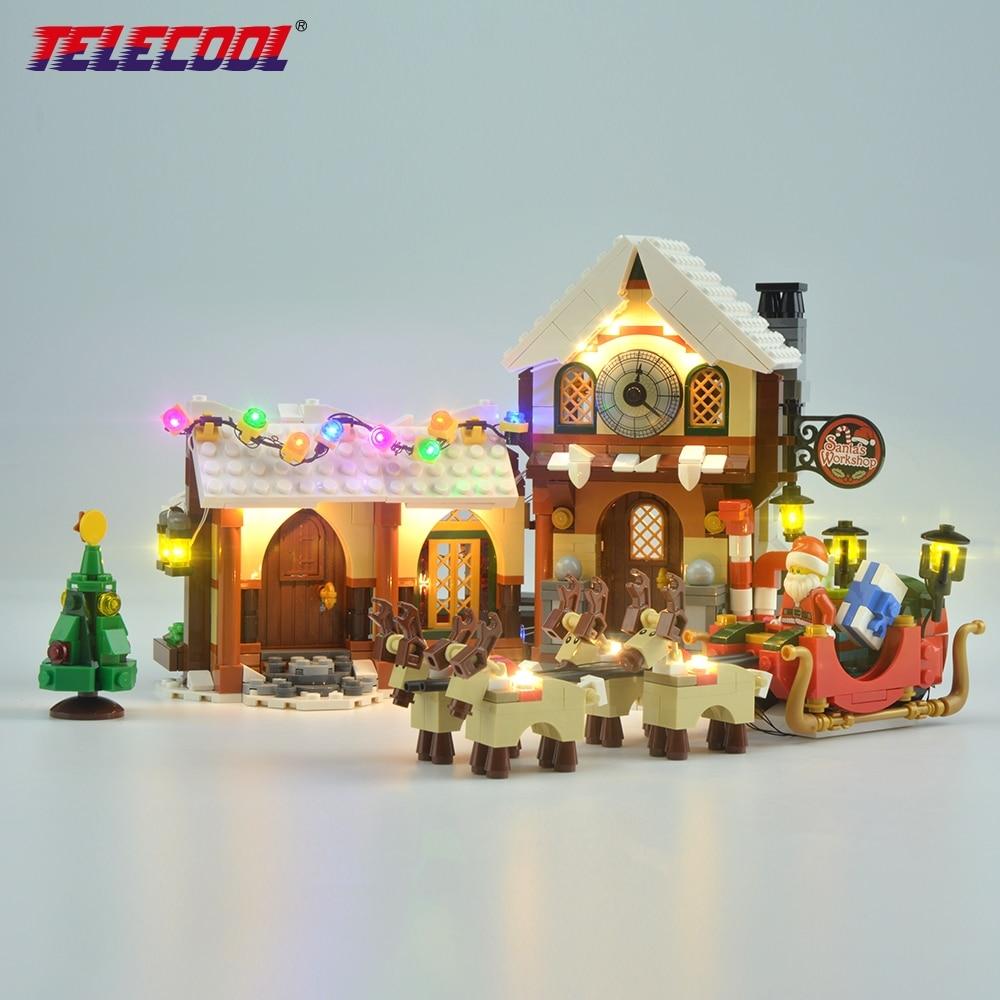LED Light Kit (Only light set) For Santa's Workshop The Father Christmas' Working Room Winter 10245 For Kids Christmas Gift dear father christmas