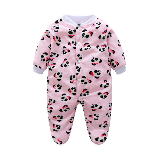 e890a1262 Ropa de Bebé calientes Pijamas Bebé Recién Nacido Mamelucos Polar Bebé Mono  de La Manga Larga