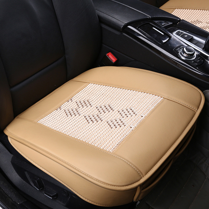 new pu leather car seats protect mat cover car seat cover pad breathable cushion cool car seat