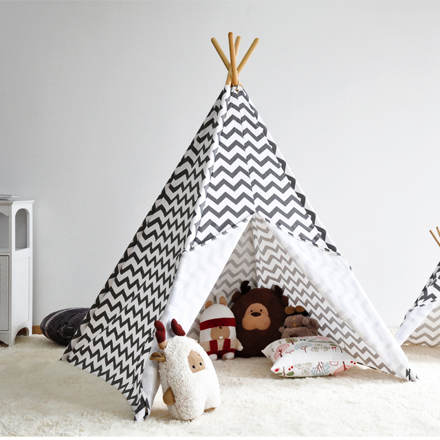 zigzag stripe indian kids teepee tent great gift idea for kids