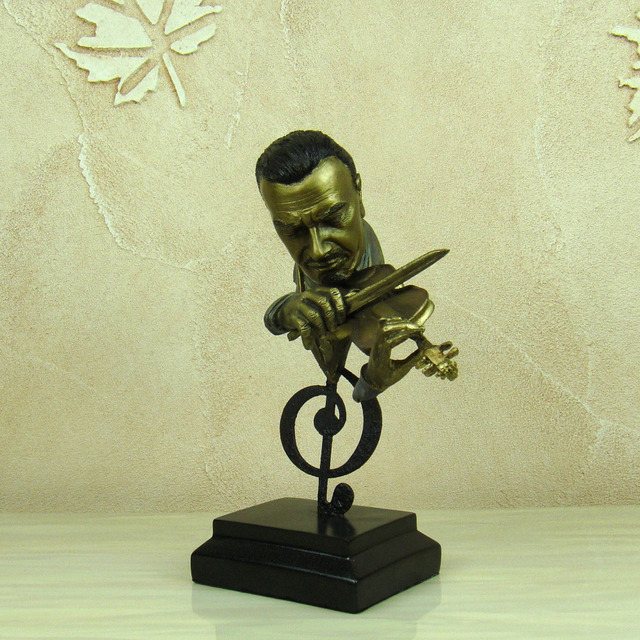 Abstract Violin Player Bust Musical Resin Statue 2