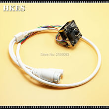 HKES Wholesale 12pcs/lot 2MP Security CCTV Mini POE IP Camera Module with RJ45 Port Cable and 3.7mm Lens