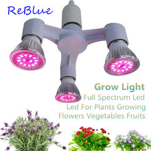 ReBlue Grow Light Lamp For Plants Full Spectrum Led Grow Phyto Lamps Plant Light 7W 21W 35W fitolampy Led Grow Light For Flower(China)