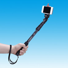 Горячие Продажи Само Палку Yun Дэн С-188 Selfie Стик Для Gopro Монопод Штатив + Телефон Владельца Штатив Мобильный Телефон Монопод бесплатная Доставка