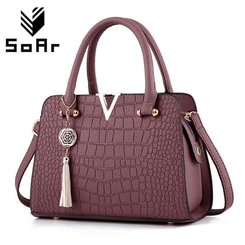 SoAr New Crocodile Pattern Sieviešu maisiņu rokassomas sievietēm - Rokassomas