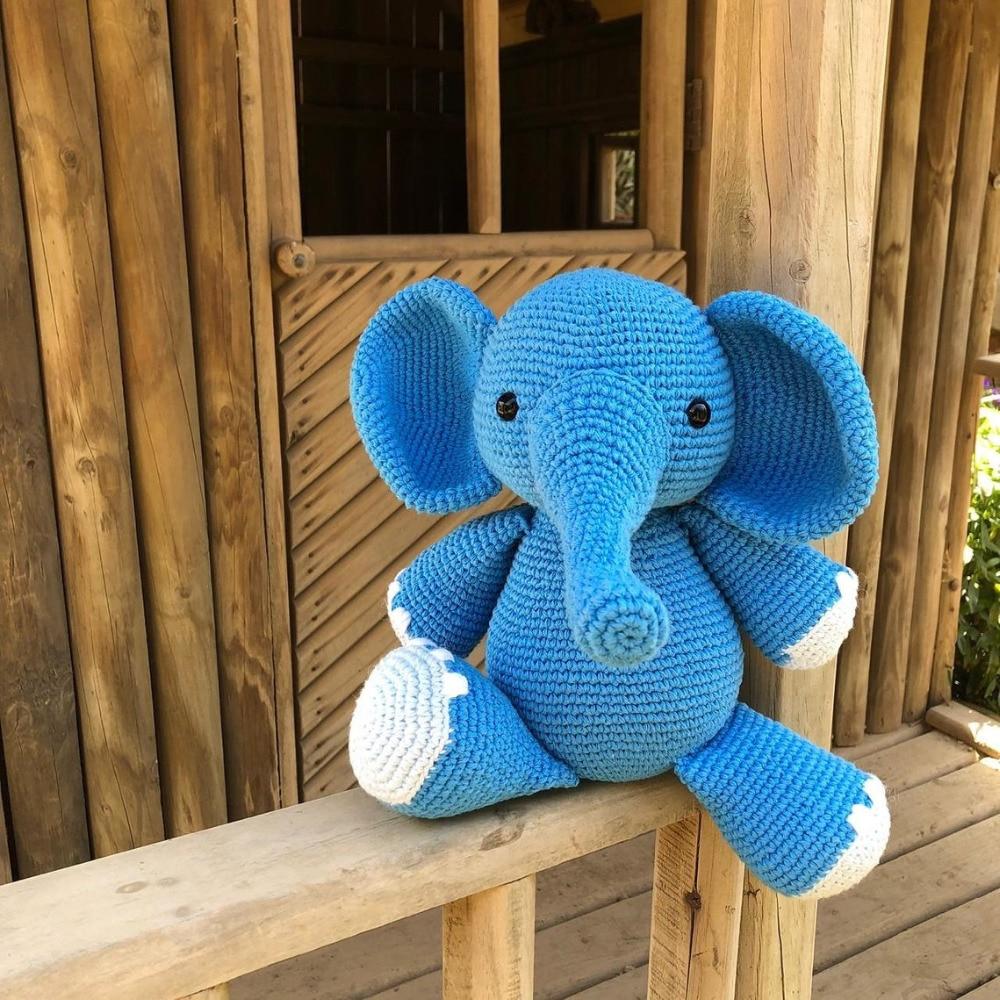 Mobile elefante em feltro com molde | Capas de almofadas de crochê ... | 1000x1000