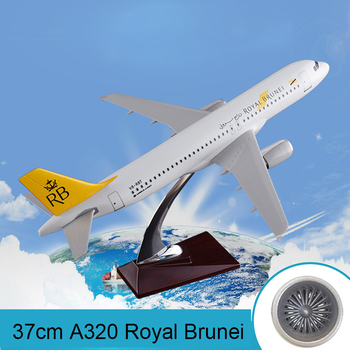 37cm A320 Royal Brunei Airbus Plane Model Brunei Airlines RB International Airbus Aviation Resin Aircraft Model Collection Gift