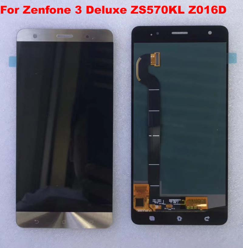 gold blue black For Asus Zenfone 3 Deluxe ZS570KL Z016D lcd display with touch screenr phone