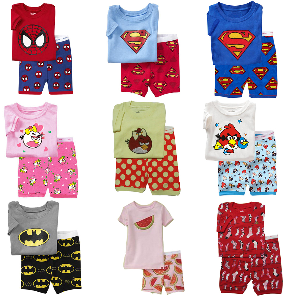 Online Shop 2015 Summer Kids Baby Boys Gilrs Nightdress Spider Man ...