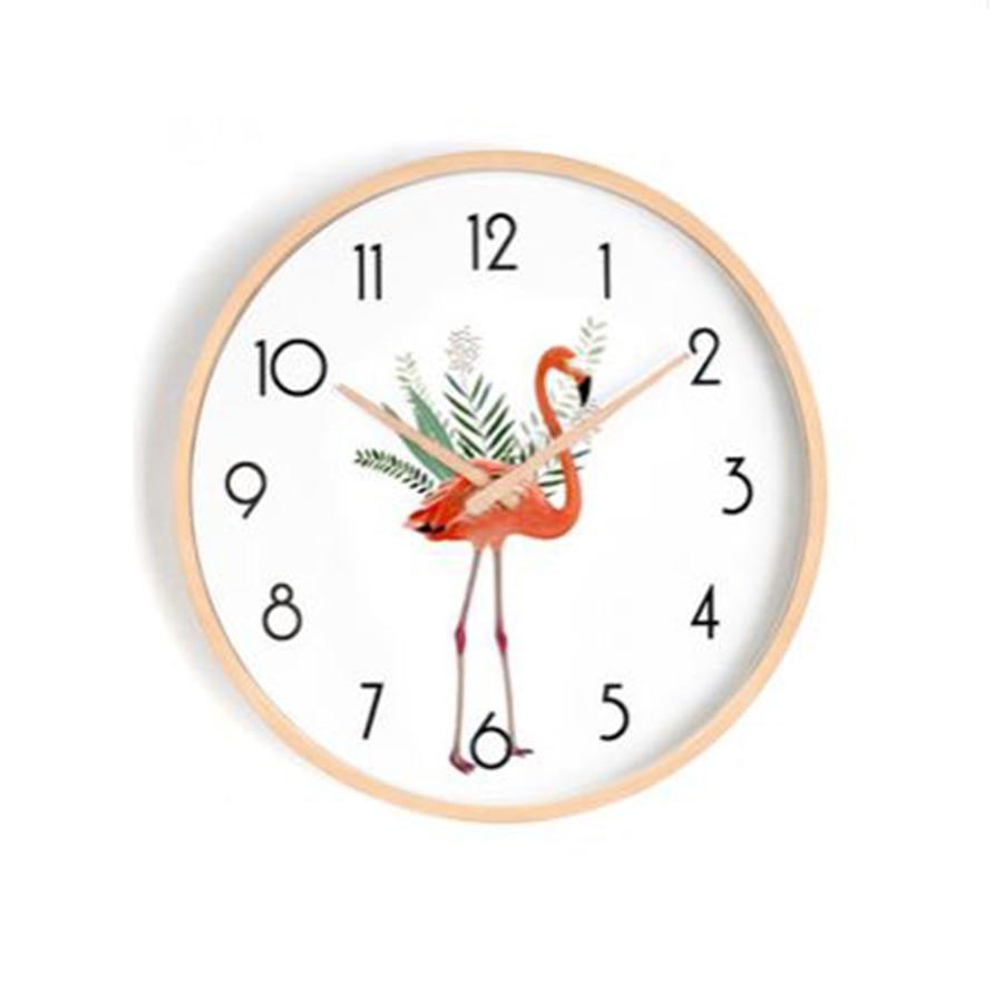 Японские скандинавские настенные часы, деревянные, бесшумные, настенные часы для спальни, гостиной, современный дизайн, детские, уникальные