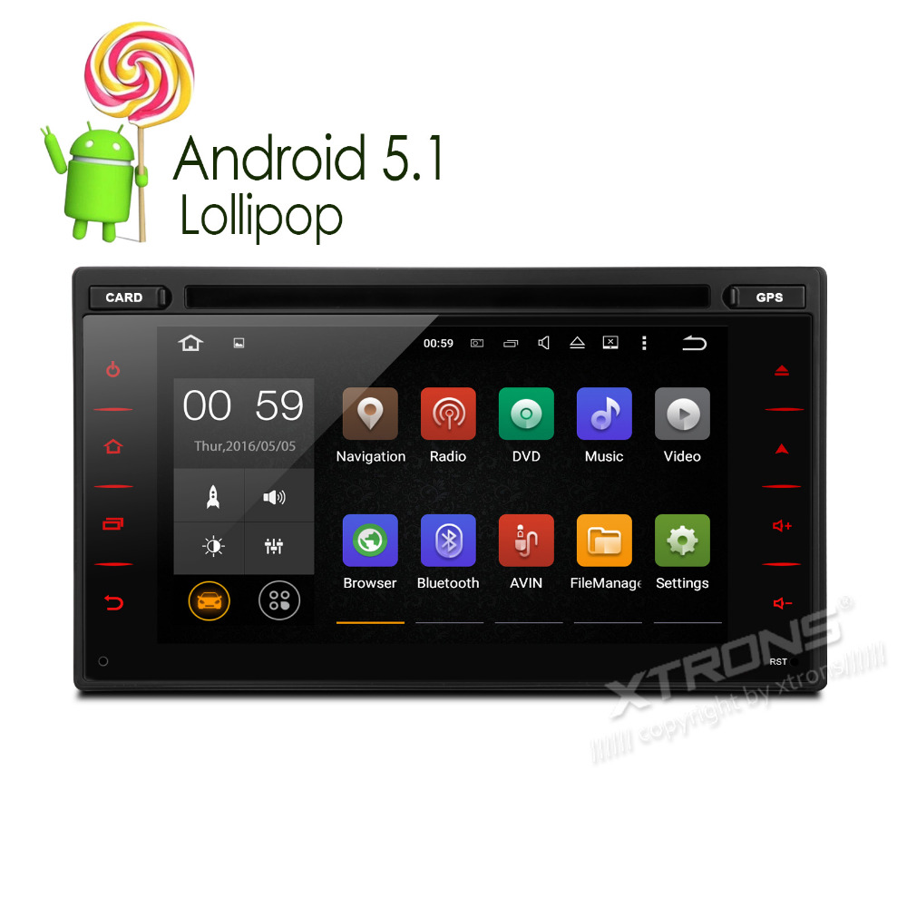xtrons 6 2 inch 2 din android 5 1 car dvd player radio. Black Bedroom Furniture Sets. Home Design Ideas