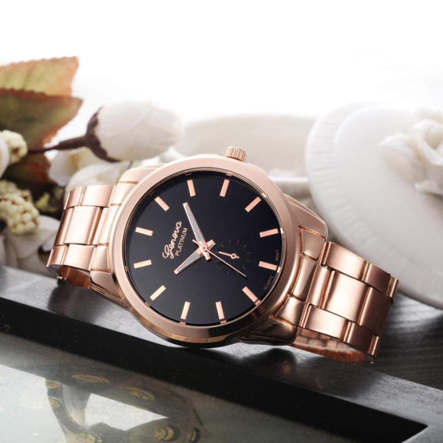 Relogio Feminino 2018 Top Brand Fashion Quartz Watches Women Gold Geneva Watch Casual Stainless Steel Dress Wristwatches