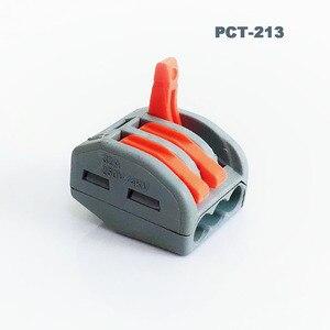 Image 3 - Novo tipo plug in conector de fio conector de cabo de alimentação 3 pinos conector de fio terminal eletrônico teriminal bloco conexão
