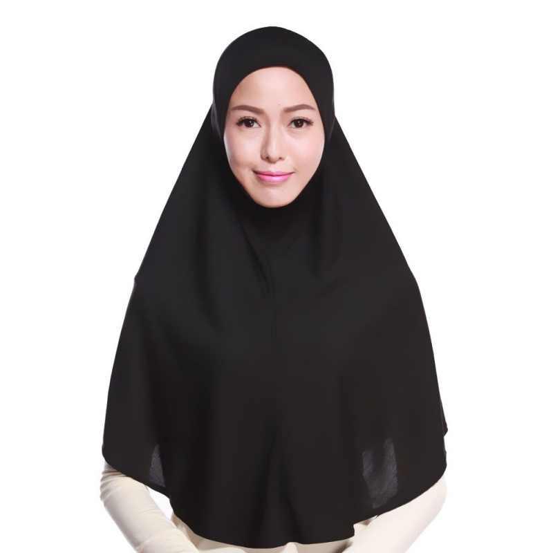 Fashion Women Hijabs Islamic Chest Cover Scarf Bonnet Full Cover Inner  Hijab Cap Lady Muslim Headwear f4a7286f3fb