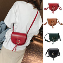 Coneed 2019 New Sell Well Fashion Womens Small Saddle Bag Retro Ring Simple Shoulder Messenger Bag May28 P35(China)