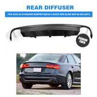 Carbon Fiber Rear Bumper Lip Diffuser Spoiler for Audi A6 Standard Bumper Sedan 4 Door Non Sline Non S6 2013 2015