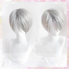 Юри! На льду виктора никифорова парик виктора никифорова косплей парики+ парик шапка