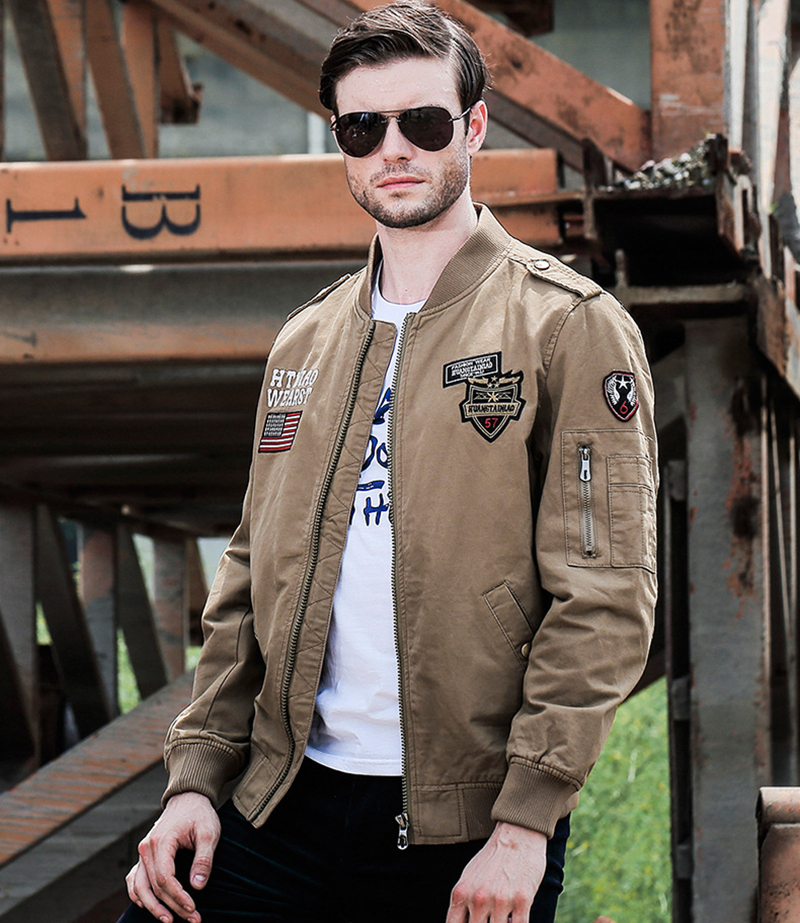 Compra chaqueta bomber militar hombre online al por mayor
