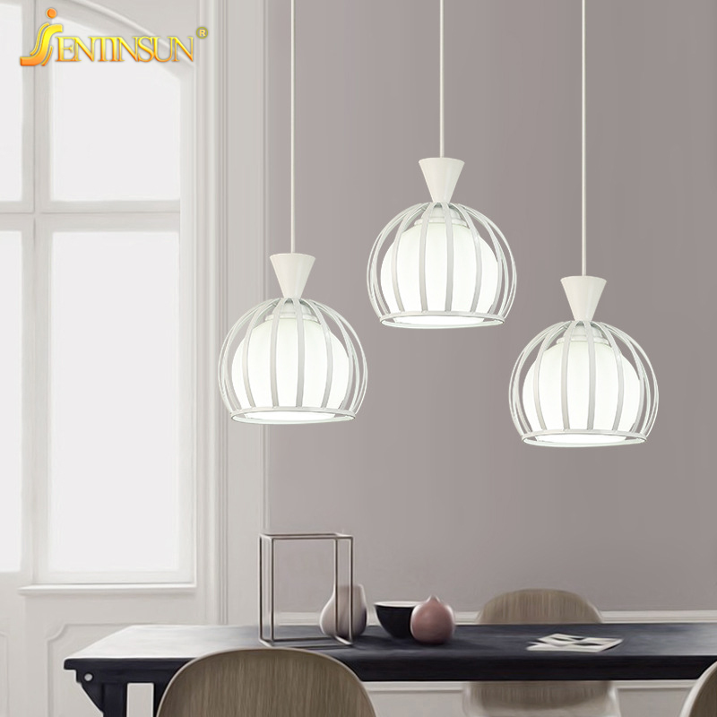 Restaurant Lights LED Modern Metal Glass Pendant Light Hollowed Iron Hanging Lamp Simple Pastoral Bar Bedroom Dining Room Light hghomeart children room iron aircraft pendant light led 110v 220v e14 led lamp boy pendant lights for dining room modern hanging
