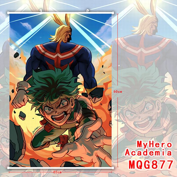 085aa85a239 My Hero Academia Boku no Hero Academia Scroll Paintings Wall Picture  Plastic Hanging Fabric Sticker Poster 60X40CM - Blog Store