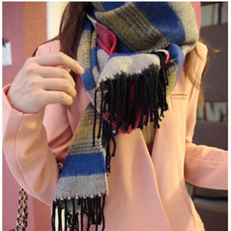 Winter New Designed 2016 font b Tartan b font Scarf Plaid Scarf Designer Wool Basic Shawls